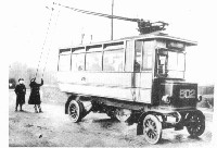 One of Leeds' first trolleybuses.